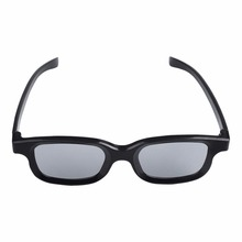 High-quality Black Round Polarized 3D Glasses Movie DVD LCD Video Game Theatre TV Theatre Movie Circular