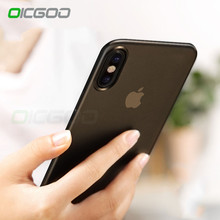 OICGOO Ultra Thin Matte Transparent Phone Cases For iPhone 8 7 6 Plus Cover Case For iphone X Case 8 7 6 6S 0.3mm Phone Bag Capa(China)