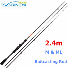 Free Shipping Trulinoya 2.4m M & ML Tips Baitcasting Rod 2 Section Carbon Fishing Rods China
