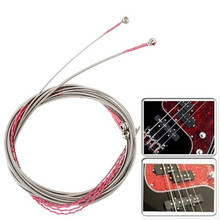 2 Color 4pcs 990L Electric Bass Guitar String For Electric 4 String Bass Guitar Replacement Parts Accessories Kits