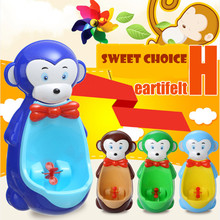 Cartoon Monkey Baby Boy's Urinal Toliet Kids Infants Standing Potty Suction Cups Penico Pee Vertical Wall-mounted Cute Toliets