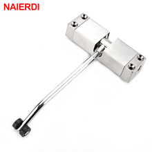 NAIERDI Light Door Closer Fire Rated Door Channel Stainless Steel Spring Automatically Adjustable Hinges For Furniture Hardware