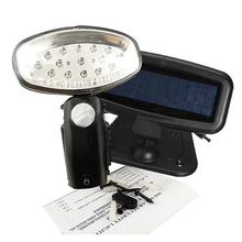 Rechargeable 15 LED Solar Power Light PIR Motion Sensor Security Garden Shed(China)