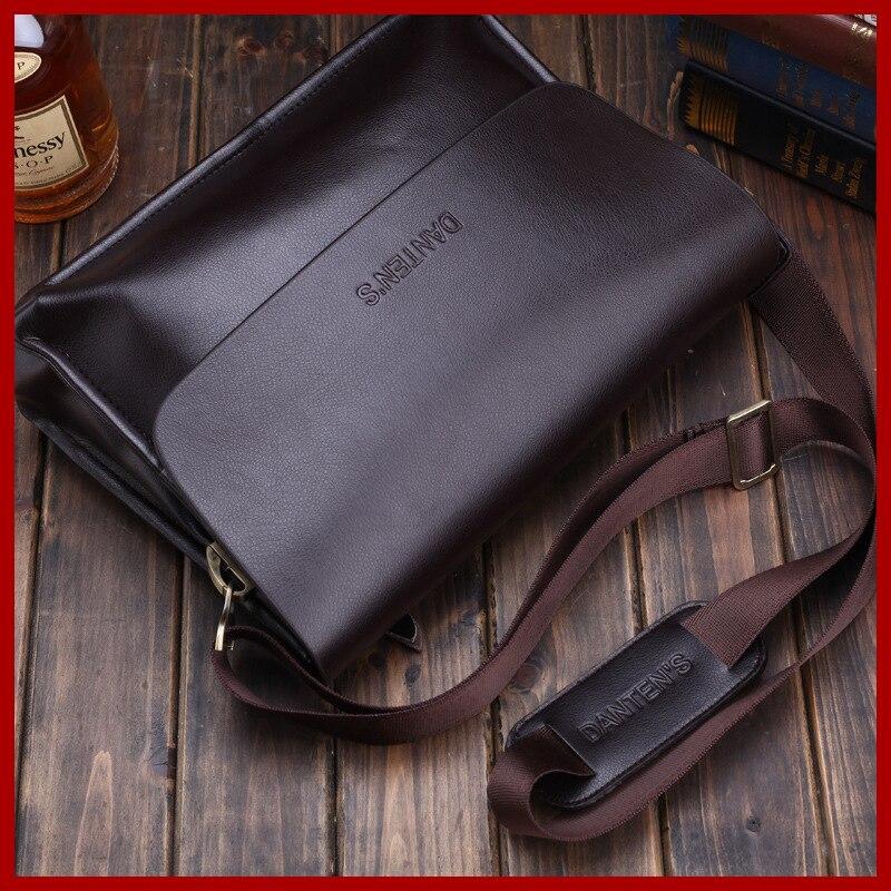 Dantens business shoulder messenger male bag for men high-grade leather tote men messenger bags fashion mens travel bags 1606<br>