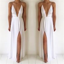 Bigsweety Sexy Maxi Dress Women Sleeveless Backless Boho Long Dress  Bridesmaid Formal Summer Party Bandage Slit 2e875ec8f620