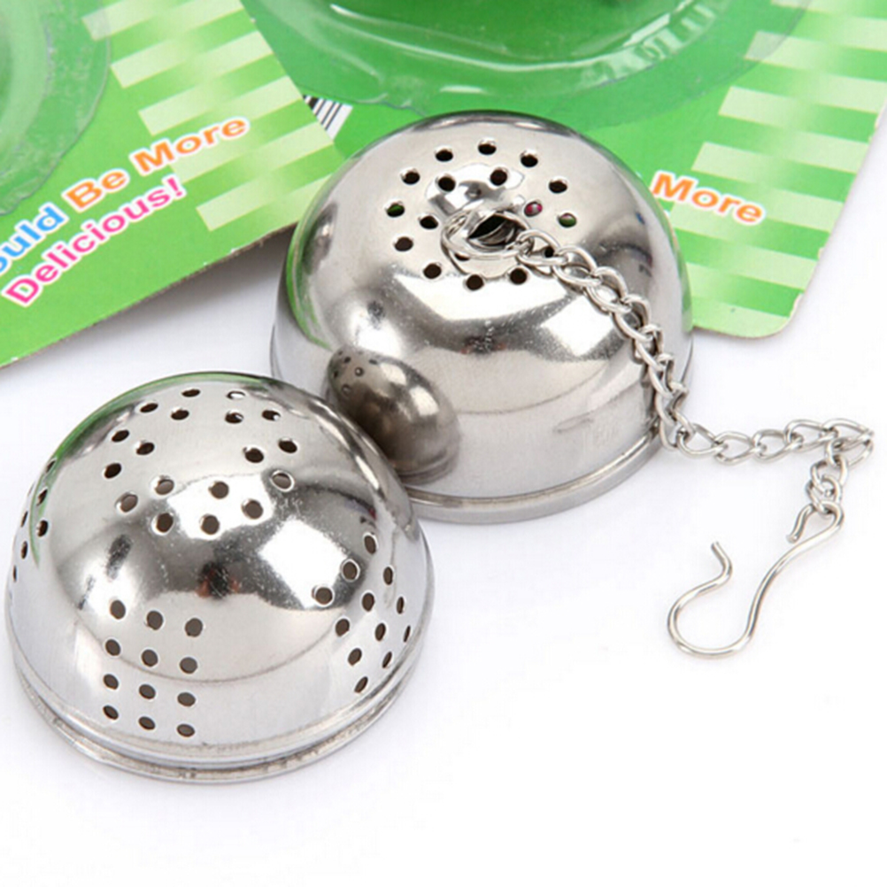 1PCS Fashion Kichen Stainless Steel Sphere Locking Spice Tea Ball Strainer Mesh Infuser Filter Silver(China (Mainland))