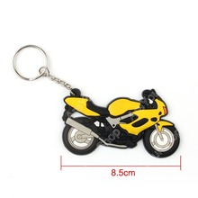 Sale Motorcycle Model Cool Keyring Keychain Key Chain Pendant Rubber For Honda Yellow