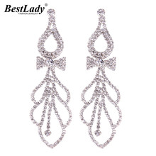 Best lady Good Quality Hot Sale Cheap Luxury Wedding Boho Statement Stud Earrings Jewelry For Women Wholesale 5582(China)