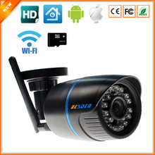 ABS Plastic Material Wireless IP Camera 720P With SD Slot Max 32G One Key WPS  Wifi Camera IP Home Surveillance CCTV