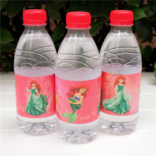 12pcs cartoon Princess Ariel Mermaid water bottle label candy bar decoration kids birthday party supplies baby shower(China)