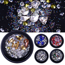 Micro Crystal Beads 3D Nail Art Decorations Colorful Sharp Bottom Nail Rhinestones Manicure Nail Decoration Body Art UV Gel 3g