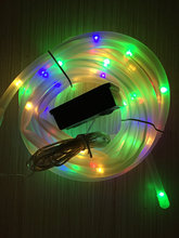 10M Solar Powered Rope Tube fairy String Light 100LED Outdoor Xmas Garden Christmas Wedding party Tree flexible Lamp-Multicolor