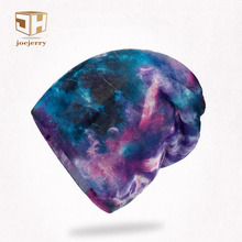 joejerry Starry Sky 3D Printed Hat Beanie Women Spring Autumn Skullies Beanies Men Hats Multifunction Scarf and Caps