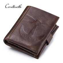 Buy CONTACT'S Vintage Short Wallets Genuine Leather Men's Wallet Hasp Design Coin Pocket Purses Male Photo Card Holders Bag for $17.58 in AliExpress store