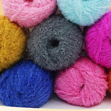 New Soft Warm Long Hair Cotton Yarn Wool Yarn Women Children Baby Coat Sweater Scarf Yarn for Knitting Gift(China)