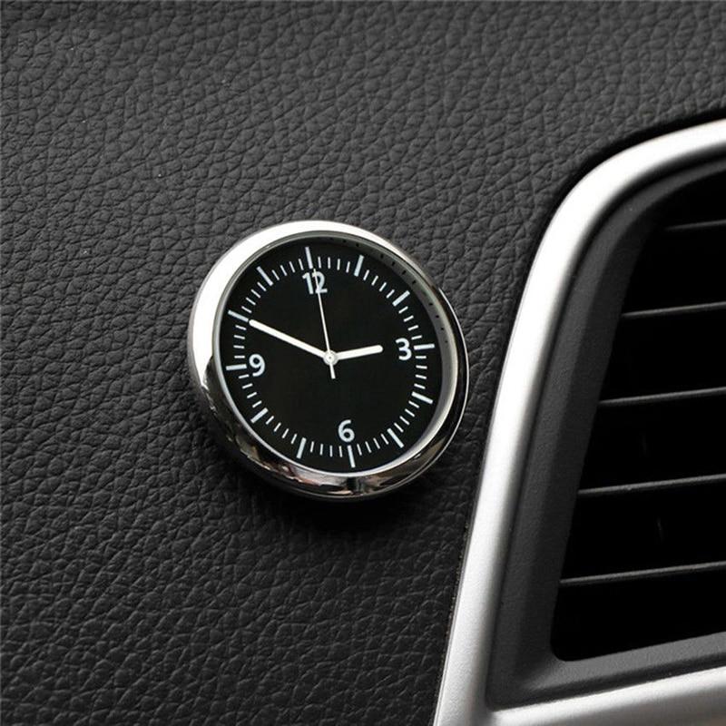 Mini Quartz Pocket Small Luminous Analog Watch Stick On Clock For Car Air Clip Clock Boat Bike Car Styling Interior Watch