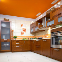 modern orange lacquer painting kitchen cabinet