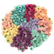 100pcs 3cm Mini Silk Artificial Rose Flowers Cloth For Wedding Party Home Room Decoration DIY Dress Accessories Fake Flowers(China)