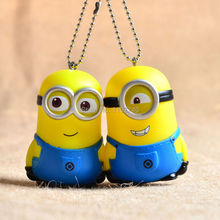 Minions Keychain Environmentally Vinyl Pendant Minion Keychains 5pcs Bag/Car/Phone Charm Gift Despicable Me Couple Key Chain