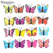 12Pcs DIY Lifelike 3D Multicolor PVC Butterfly Fridge Wall Stickers Kids Baby Rooms Kitchen Home Decoration Adhesive to Wall(China)