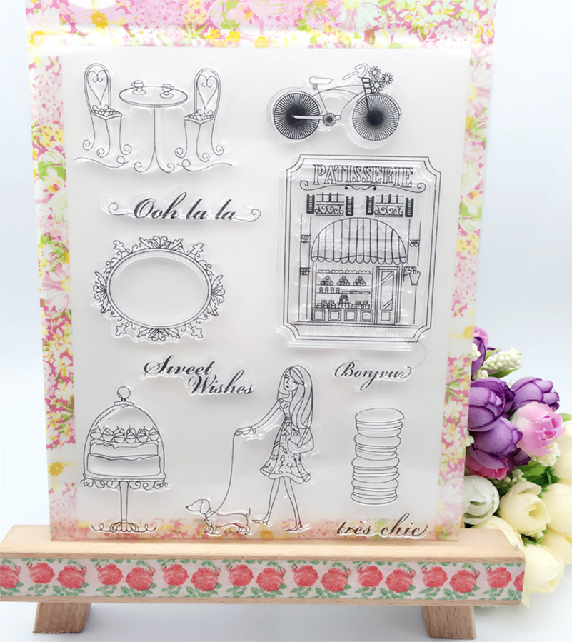Fashion Girl for Transparent Clear Silicone Stamp Seal for DIY scrapbooking photo album wedding gift paper card LL-054<br><br>Aliexpress