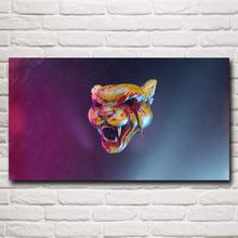 Hotline Miami Video Games Tiger Artwork Silk Fabric Poster Print 11x20 16x29 20x36 Inches Home Decor Painting Free Shipping