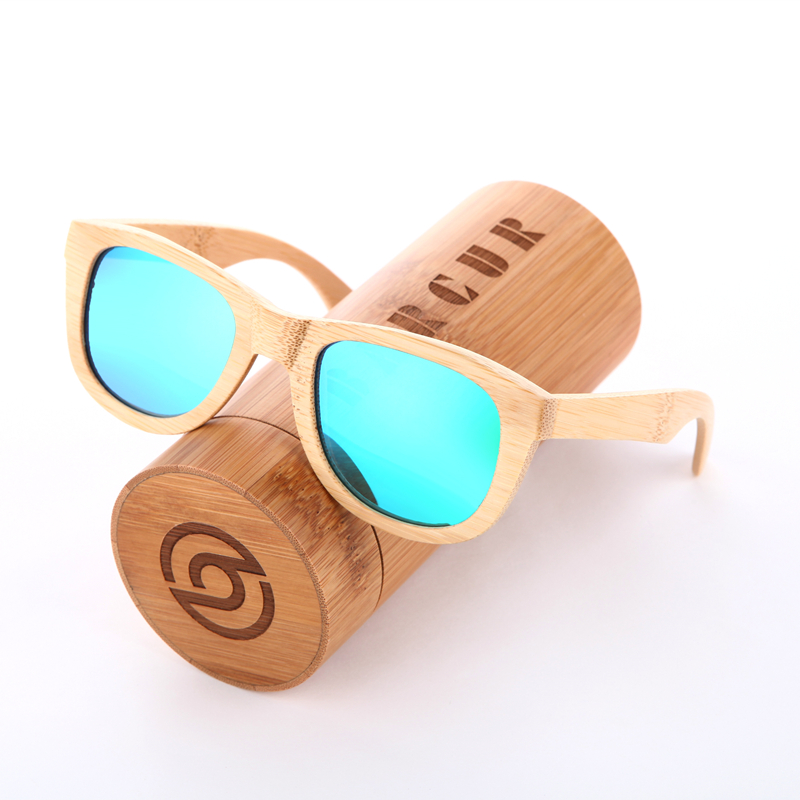 BARCUR 2016 Real Polarized Wood Bamboo Sunglasses Women Men Custom Logo 100% Handmade Square Eyewear Gift Wooden-Sunglasses<br><br>Aliexpress