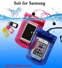 1pcs Outdoor travel swim dive submersible For Samsung Galaxy S4 S5 S6 S7 S8 edge plus A3 A5 A7 C5 Pro Waterproof Bag case cover