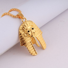 NEW Fashion Jewelry Vintage Classic Egyptian pharaoh Head  Gold Pendant hip hop Necklace for Men/Women  Collier