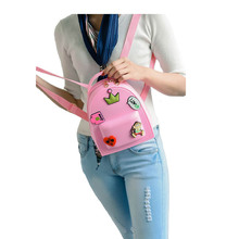 Cute Pink Backpacks Women Fashion Mini Small Backpack Solid Girls School Shoulder Bags Mochila Feminina Candy Color School Bags