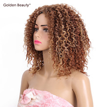 2pcs/pack 10inch Noble gold Hair Extensions synthetic Jerry Curly hair weaves for black women QQ Star