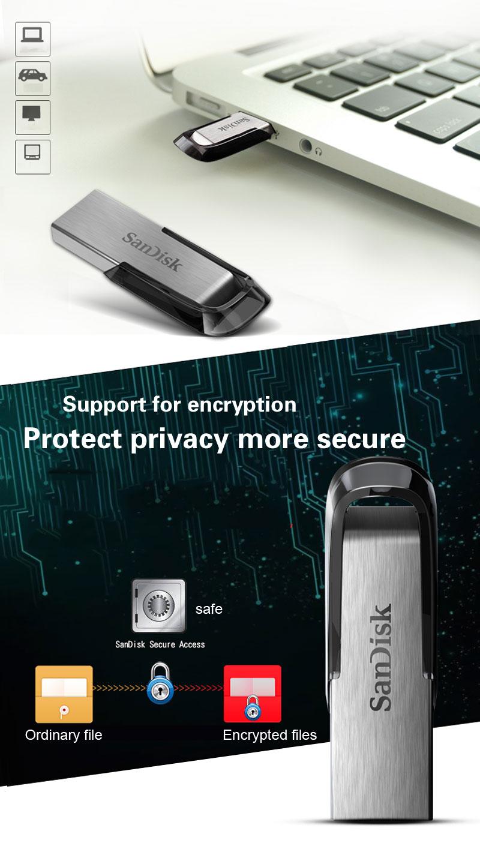 SanDisk USB 3.0 Usb Flash Drive Pen Drive 32GB 64GB 16GB USB Memory Stick High Speed 150MB/s USB3.0 CZ73 Pen Drives cle usb c