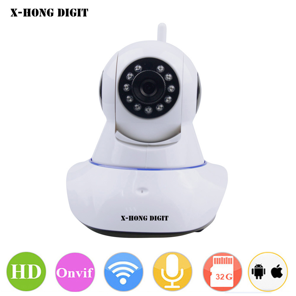 X-HONG IPC05 Home Security IP Camera Wifi wireless CCTV Camera 720P HD two way voice motion sensor Night Vision support SD Card<br>