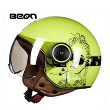 2017 Summer New girl Design BEON half face motorcycle helmet ABS retro motorbike vehicles Motor running helmets four seasons - Motocycle Accessories store