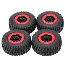 4Pcs AUSTAR AX-3009 High Performance 108mm 1/10 Short Course Truck Tires with Wheel Rim for All Terrain(China)