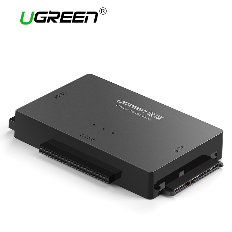 "Ugreen USB 3.0 to SATA IDE Converter for 2.5"" 3.5"" Hard Disk Drive HDD SSD CD ROM Adapter IDE Sata to USB 2.0 Sata Adapter Cable(China)"