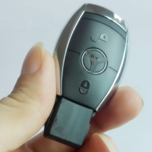 2 Button Smart Remote Key Case For Mercedes-Benz MB CL SLk CLK C E S Class With Battery Holder With Key Blade WITH LOGO