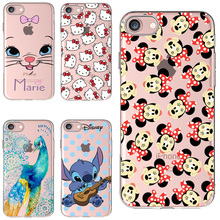 1.2mm Soft Silicon Cover Case For Apple iPhone 7 7Plus Cases 7 Plus Phone 8 X Fashion Shell Painted Cute Hello Kitty Marie(China)