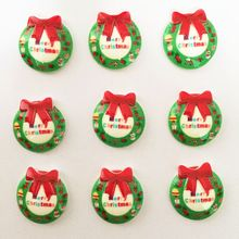 Buy DIY 20pcs Resin hand painting Christmas wreath Flatback stone/Children scrapbook K116 for $1.88 in AliExpress store