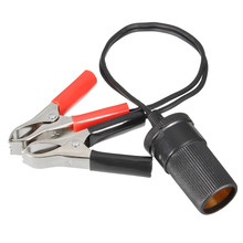 Car Battery Pump Alligator Clip Charger Cable Terminal Clip-on Cigarette Lighter Power Socket Adapter Adaptor 12V
