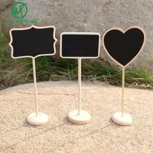 5pcs/bag Chalkboard Backboard Wedding Favor Wedding Party Table Decor Message Number Tag all For Wedding