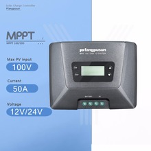 Fangpusun MPPT 100/50D 50A Solar Charge Controller 12V/24V Auto Max 100V Solar Panel Battery Charge Regulator with LCD Display