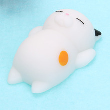 Cute Mochi Cat Kitten Soft Toys Decompression Cartoon Simulation Animal Slow Rising Squishy Squeeze Healing Toy Funny Kids Gift