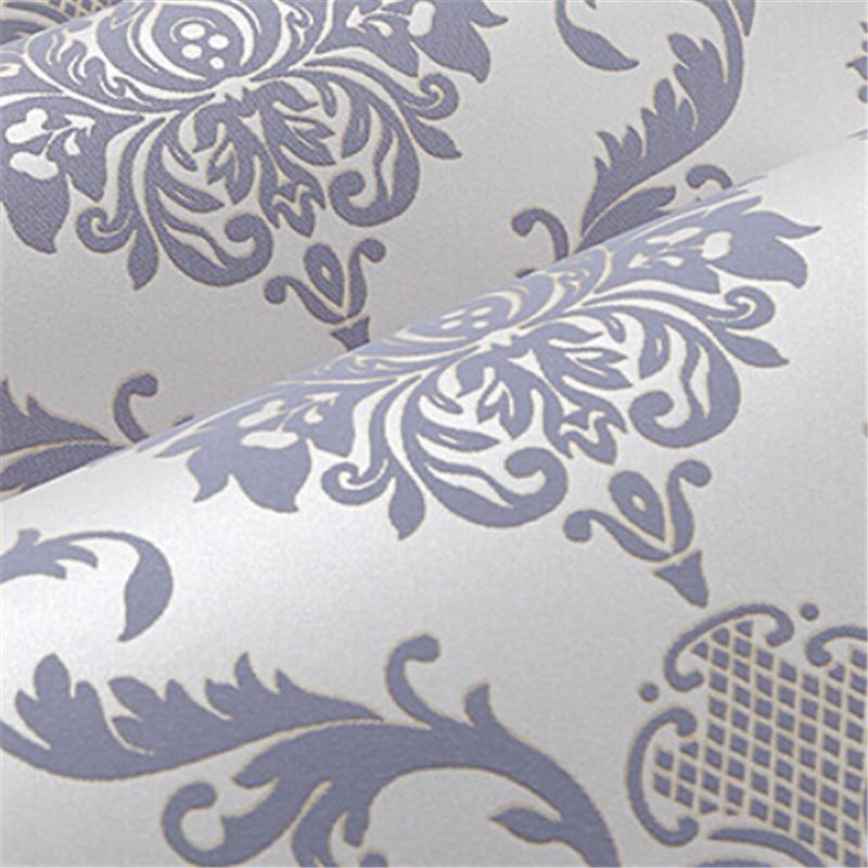 beibehang Gorgeous Victorian Damask Pattern papier peint Flocking Wall paper Rolls Bedroom TV Background Wallpaper for walls 3 d<br>