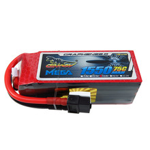 Giant Power DINOGY MEGA GRAPHENE 2.0 14.8V 1550mAh 4S 75C XT60 Lipo Battery For FPV Quadcoper Racer Racing RC Drone Toys DIY
