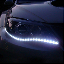 Hot 30cm DIY Waterproof Flexible Car Light 15SMD LED DRL Daytime Running Strips Lights Car Styling Accessories Decoration Lamps(China)