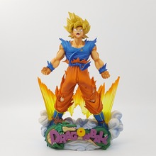 Dragon Ball Figure Son Goku Figure MSP Super Saiyan The Brush Figure PVC 240mm Dragon Ball Z Action Figure DBZ DragonBall Z(China)