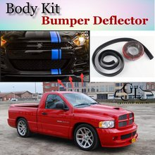 Bumper Lip Deflector Lips For Dodge Ram SRT-10 Front Spoiler Skirt For TopGear Fans to Car View Tuning / Body Kit / Strip
