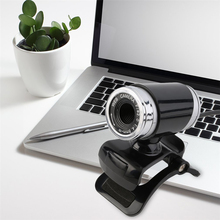 USB 2.0 12 Megapixel HD Camera Web Cam Clip on 360 Degree for Desktop Skype Computer PC Laptop Black
