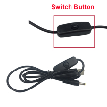 SHCHV USB Switch Cable USB Wire To DC Port Charging Switch Cable For Banana M3 With ON OFF Button For Orange Pi Plus